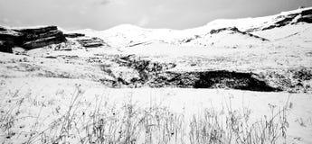 Πανοραμική σκηνή χιονιού Στοκ Εικόνες