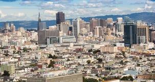 Πανοραμική στο κέντρο της πόλης άποψη του Σαν Φρανσίσκο απόθεμα βίντεο