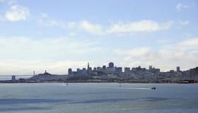 Πανοραμική στο κέντρο της πόλης εικονική παράσταση πόλης του Σαν Φρανσίσκο άποψης ΗΠΑ Στοκ φωτογραφία με δικαίωμα ελεύθερης χρήσης