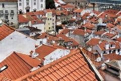 Πανοραμική της Λισσαβώνας η πόλη από Portas κάνει την άποψη κολλοειδούς διαλύματος Στοκ Εικόνα