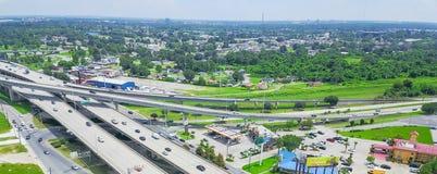 Πανοραμική τοπ ανυψωμένη άποψη εθνική οδός 90 και οδός ταχείας κυκλοφορίας ι της Δυτικής Όχθης στοκ φωτογραφία με δικαίωμα ελεύθερης χρήσης