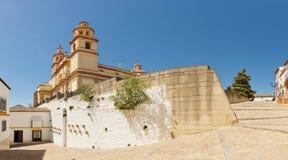 Πανοραμική φωτογραφία των pueblos blancos Olvera. Στοκ εικόνα με δικαίωμα ελεύθερης χρήσης