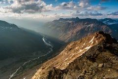 Πανοραμική όψη από Mont Pers Στοκ φωτογραφία με δικαίωμα ελεύθερης χρήσης