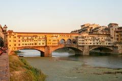 πανοραμική όψη πόλεων Ponte Vecchio Στοκ Φωτογραφίες