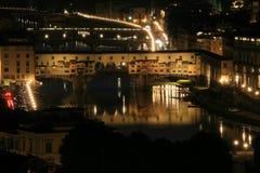 πανοραμική όψη πόλεων Ponte Vecchio Στοκ φωτογραφία με δικαίωμα ελεύθερης χρήσης