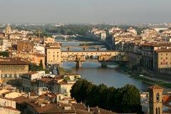 πανοραμική όψη πόλεων Ponte Vecchio Στοκ φωτογραφίες με δικαίωμα ελεύθερης χρήσης