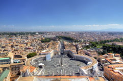 Πανοραμική όψη σχετικά με το τετράγωνο του ST Peters. Ρώμη (Ρώμη), Ιταλία Στοκ Εικόνα