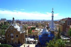 πανοραμική όψη της Βαρκελώνης στοκ εικόνα