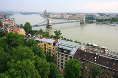πανοραμική όψη της Βουδαπέστης στοκ εικόνα με δικαίωμα ελεύθερης χρήσης