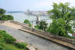 πανοραμική όψη της Βουδαπέ& στοκ φωτογραφίες