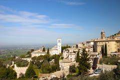 Πανοραμική όψη της εκκλησίας σε Assisi Στοκ Εικόνα