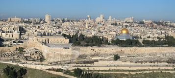 πανοραμική όψη της Ιερουσαλήμ Στοκ φωτογραφία με δικαίωμα ελεύθερης χρήσης