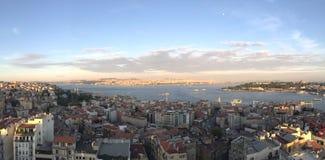 πανοραμική όψη της Κωνσταντινούπολης στοκ εικόνα