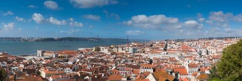 Πανοραμική όψη της Λισσαβώνας Στοκ εικόνες με δικαίωμα ελεύθερης χρήσης