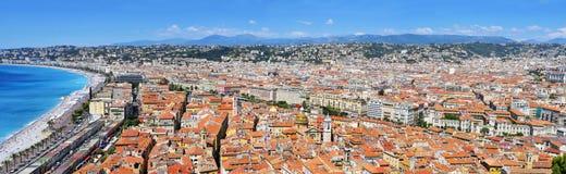 Πανοραμική όψη της Νίκαιας, Γαλλία Στοκ εικόνα με δικαίωμα ελεύθερης χρήσης
