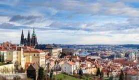 πανοραμική όψη της Πράγας Στοκ εικόνα με δικαίωμα ελεύθερης χρήσης