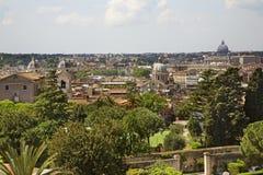 πανοραμική όψη της Ρώμης Ιταλία Στοκ Εικόνα