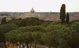 πανοραμική όψη της Ρώμης Ιταλία Στοκ Εικόνες
