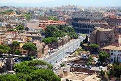 πανοραμική όψη της Ρώμης χρώμ&alph Στοκ φωτογραφία με δικαίωμα ελεύθερης χρήσης