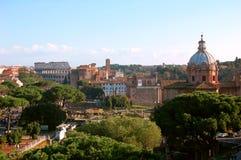 Πανοραμική όψη της Ρώμης Στοκ εικόνα με δικαίωμα ελεύθερης χρήσης