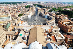 Πανοραμική όψη της Ρώμης Στοκ Φωτογραφία