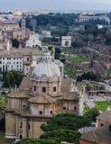 πανοραμική όψη της Ρώμης Στοκ φωτογραφία με δικαίωμα ελεύθερης χρήσης