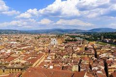 πανοραμική όψη της Φλωρεντ Ιταλία στοκ εικόνα με δικαίωμα ελεύθερης χρήσης