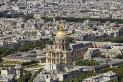 Πανοραμική όψη του Παρισιού Γαλλία Στοκ φωτογραφία με δικαίωμα ελεύθερης χρήσης
