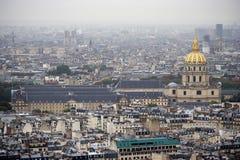 πανοραμική όψη του Παρισιού πόλεων Στοκ Φωτογραφία