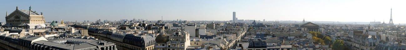 Πανοραμική όψη του Παρισιού στον υψηλό καθορισμό - Γαλλία Στοκ Φωτογραφία