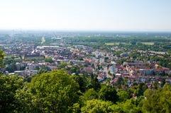 πανοραμική όψη turmberg της Γερμανίας Καρλσρούη Στοκ Εικόνες
