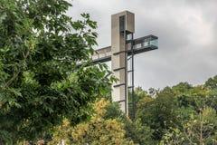 Πανοραμικός ανελκυστήρας Λουξεμβούργο Pfaffenthal στοκ εικόνες