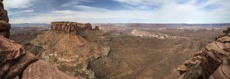Πανοραμικός ενός φαραγγιού σε Canyonlands στη Γιούτα στοκ εικόνες με δικαίωμα ελεύθερης χρήσης