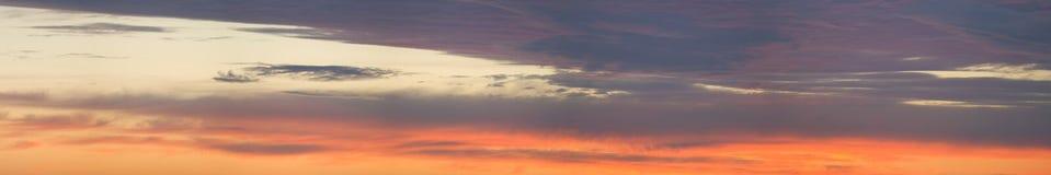 πανοραμικός ουρανός Στοκ Φωτογραφία