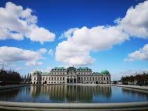 Πανοραμικός πυργίσκος Schloss στη Βιέννη στοκ φωτογραφία