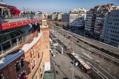 Πανοραμικός της Βαρκελώνης από τους χώρους Las Στοκ Φωτογραφίες