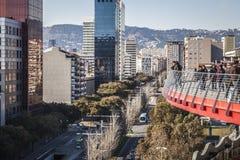 Πανοραμικός της Βαρκελώνης από τους χώρους Las Στοκ φωτογραφία με δικαίωμα ελεύθερης χρήσης