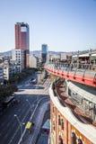 Πανοραμικός της Βαρκελώνης από τους χώρους Las Στοκ εικόνες με δικαίωμα ελεύθερης χρήσης