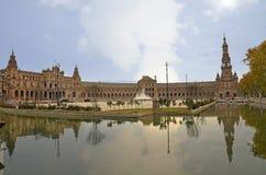 Πανοραμικός του Plaza της Ισπανίας στη Σεβίλη Στοκ Εικόνα