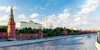 πανοραμικός χειμώνας όψης του Κρεμλίνου Μόσχα Ρωσία Στοκ Φωτογραφίες