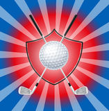 πανοραμικό θέμα γκολφ σύνθεσης ανασκόπησης Στοκ εικόνα με δικαίωμα ελεύθερης χρήσης