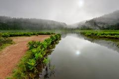 Πανοραμικό τοπίο από τις λιμνοθάλασσες των Αζορών στην Πορτογαλία Στοκ εικόνες με δικαίωμα ελεύθερης χρήσης