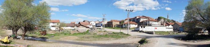 Πανοραμικό τουρκικό χωριό άποψης Στοκ φωτογραφία με δικαίωμα ελεύθερης χρήσης