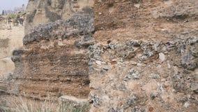 Πανοραμικό ronda άποψης τοπίο βουνών με τις καταστροφές άποψη γεφυρών nuevo puento απόθεμα βίντεο