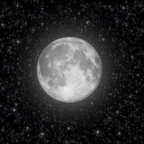 Πανσέληνος και αστέρια διανυσματική απεικόνιση