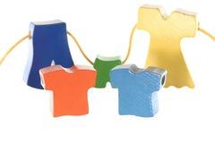 Παντελόνι φορεμάτων πουκάμισων πώλησης ενδυμάτων στη συμβολοσειρά Στοκ εικόνα με δικαίωμα ελεύθερης χρήσης