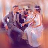 Παντρεμένα ζευγάρια στο τραμ Στοκ φωτογραφίες με δικαίωμα ελεύθερης χρήσης
