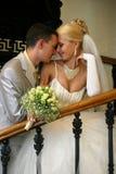 παντρεμένο πρόσφατα ζευγάρι Στοκ εικόνες με δικαίωμα ελεύθερης χρήσης
