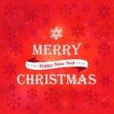 Παντρεψτε το κόκκινο υπόβαθρο Χριστουγέννων Στοκ εικόνες με δικαίωμα ελεύθερης χρήσης