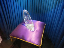 Παντόφλα γυαλιού Cinderella Στοκ φωτογραφία με δικαίωμα ελεύθερης χρήσης